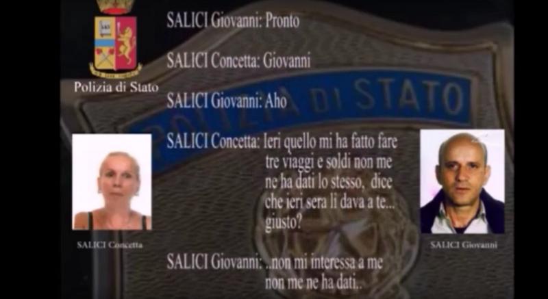 Operazione Black Tie, le intercettazioni che incastrano Concetta e Giovanni Salici