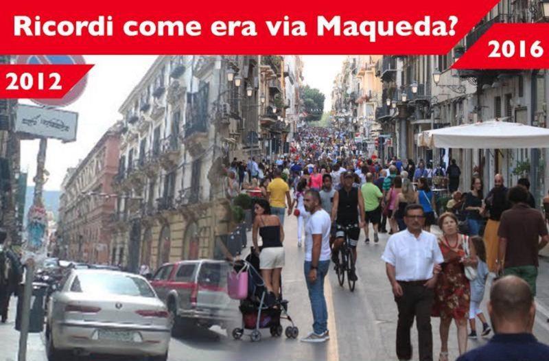 Via Maqueda prima e ora. Campagna di sensibilizzazione a Palermo