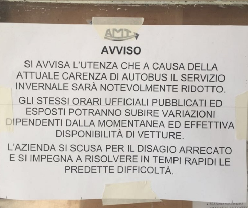 Catania non ha più un servizio pubblico urbano per stessa ammissione dell'Amt