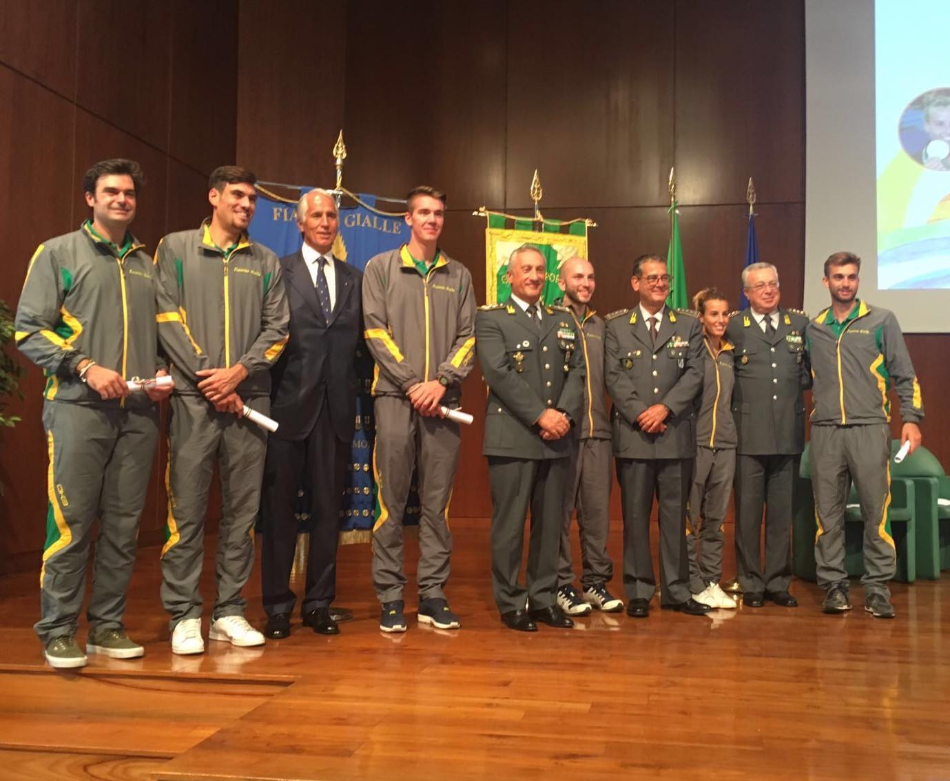 Premiati a Roma gli atleti di Rio 2016 che vestono la divisa della Guardia di Finanza