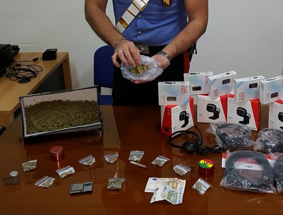 Droga negli slip: arrestato giovane pusher