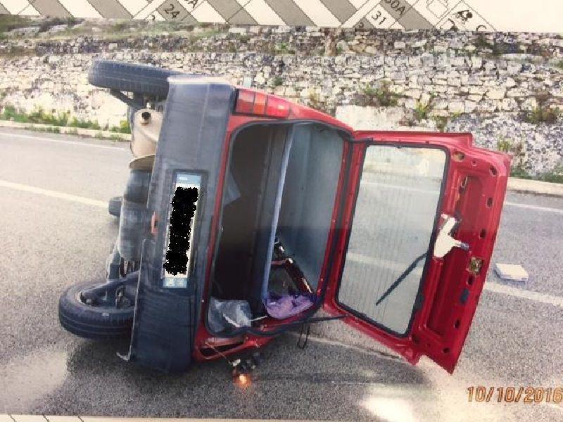 Incidente stradale a Modica, nell'auto anche una bambina