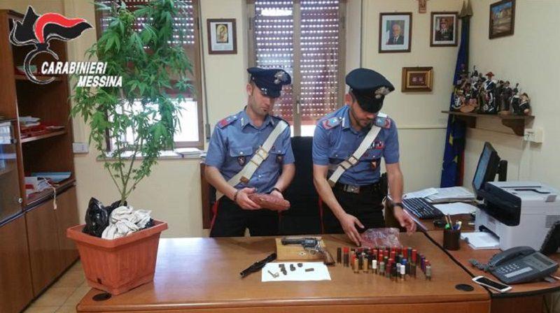 Armi e droga in casa, arrestato 27enne nel Messinese