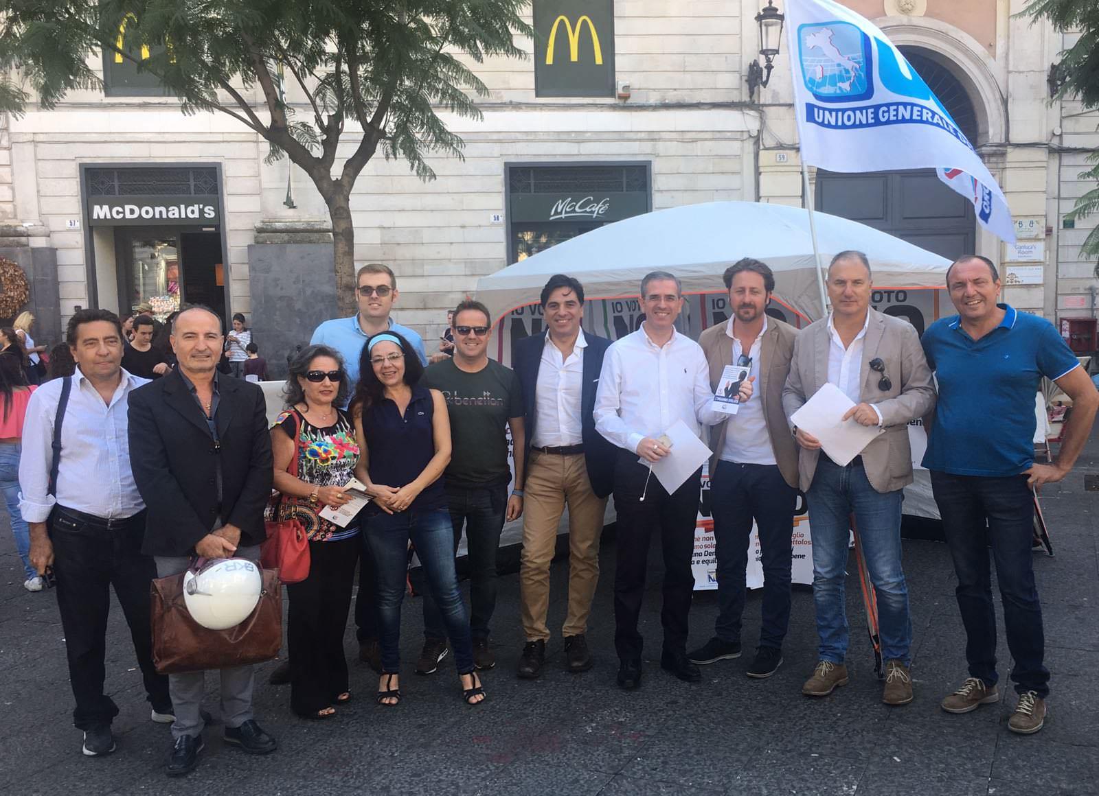 Referendum costituzionale: Ugl in piazza a Catania per il NO
