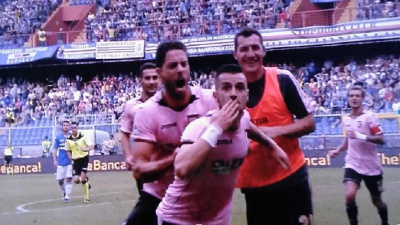 Palermo: è sfumata all'ultimo secondo la vittoria a Genova contro la Sampdoria