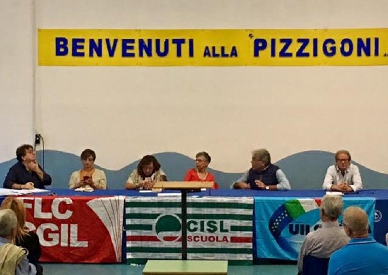 Direttivo unitario dei sindacati alla scuola Pizzigoni di Catania