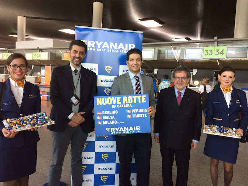 Ryanair: decolla l'operativo invernale. Da Catania 5 nuove rotte