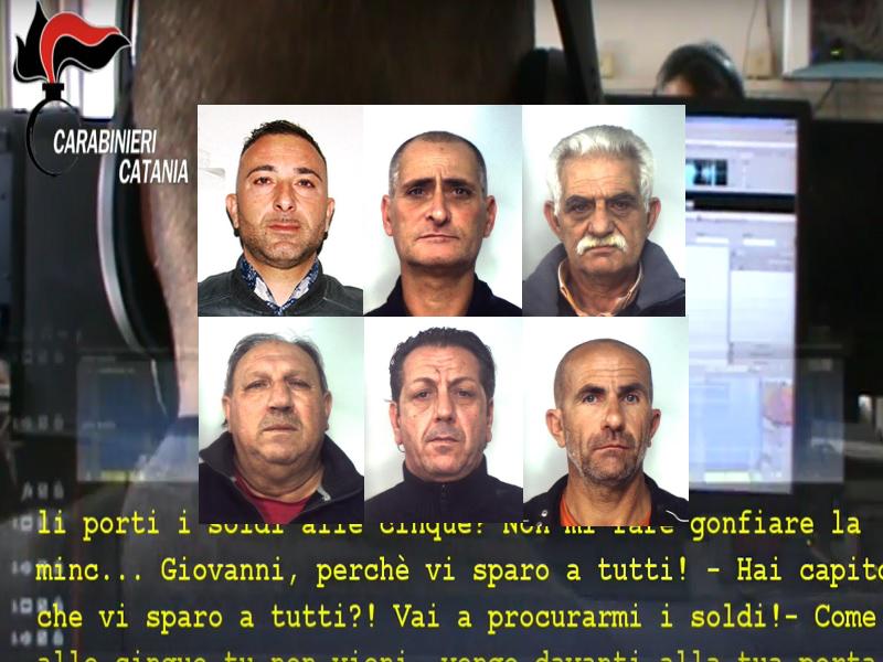 Estorsione e aggressioni, sei arresti: VOLTI e NOMI dei Santapaola-Ercolano