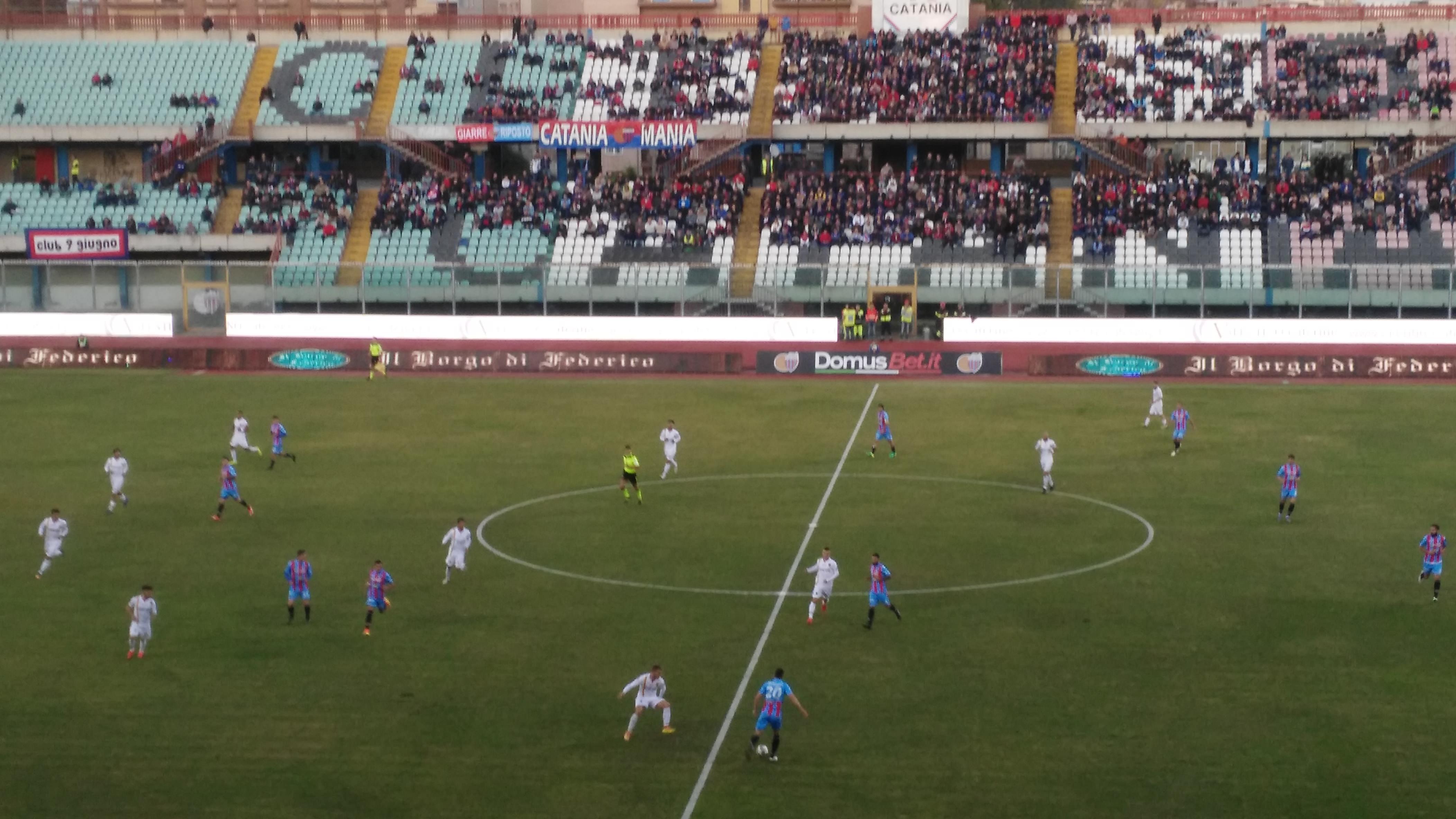 Catania 3-1 Catanzaro, rivivi la cronaca testuale del match