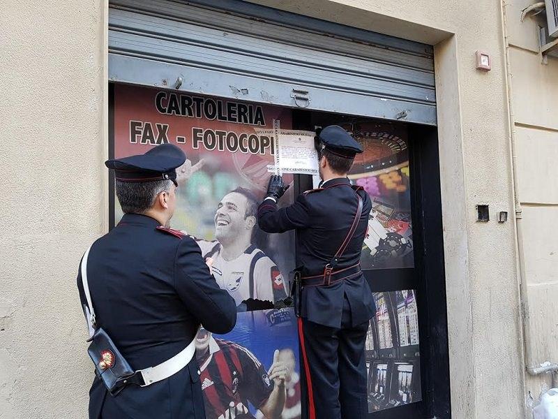 Sequestrata cartoleria trasformata in centro scommesse