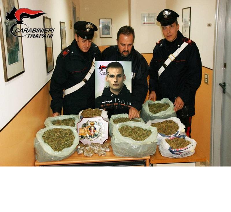 Custodiva oltre 7 chili di marijuana in casa: arrestato