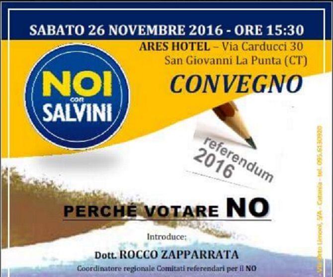 """Le ragioni del """"No"""" alla riforma costituzionale: domani ci sarà anche Calderoli"""