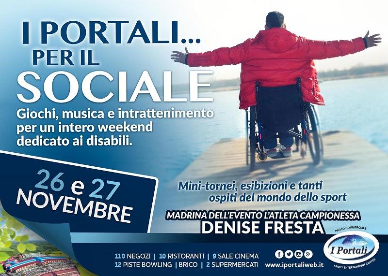 I Portali per il Sociale, weekend dedicato ai disabili al centro commerciale