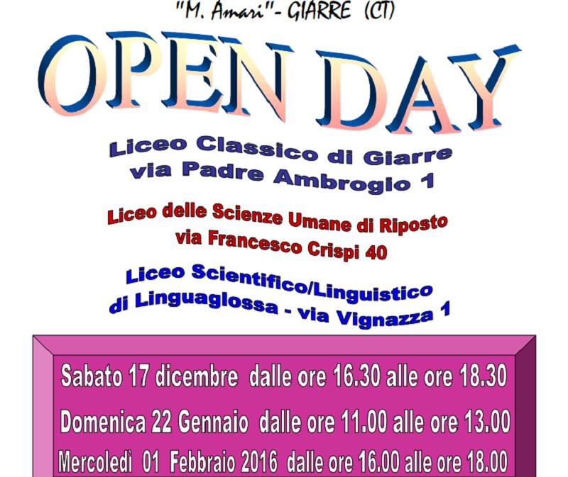 Giarre, Open Day all'istituto Michele Amari