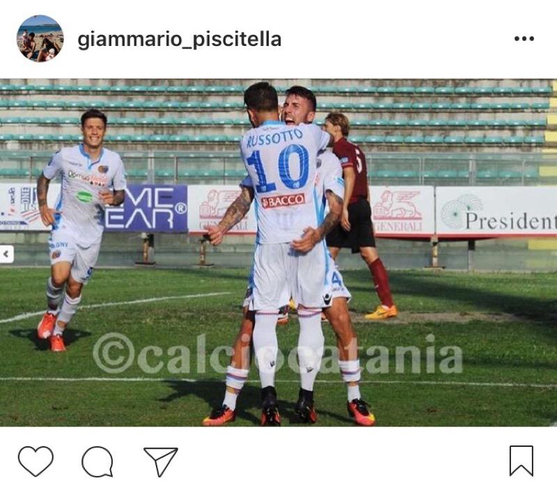 """Catania, Piscitella su Instagram: """"Non ho avuto occasioni. In bocca al lupo, squadra"""""""