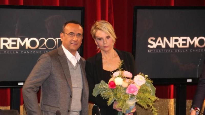 Carlo Conti e Maria De Filippi sul palco dell'Ariston: ecco le novità su Sanremo