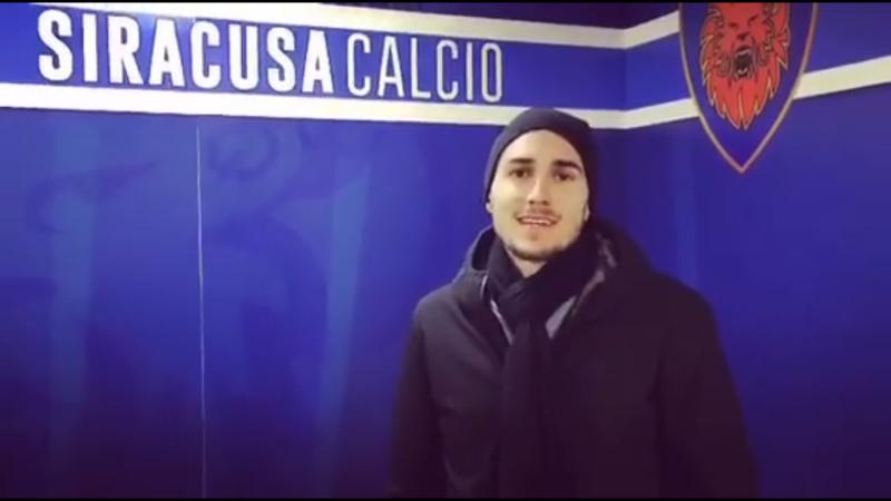 """Azzi si presenta in un video: """"Siracusa, grandissimo club"""""""