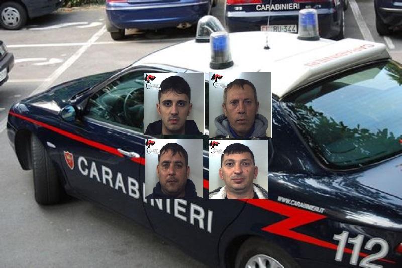Tentano furto ma vengono beccati: arrestati quattro catanesi