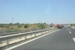 Caduta di calcinacci da cavalcavia sull'autostrada Catania-Siracusa, disagi per gli automobilisti