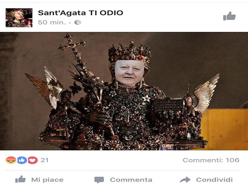 """Pagina """"Sant'Agata ti Odio"""" su Facebook: scatta ira e bufera sul social"""