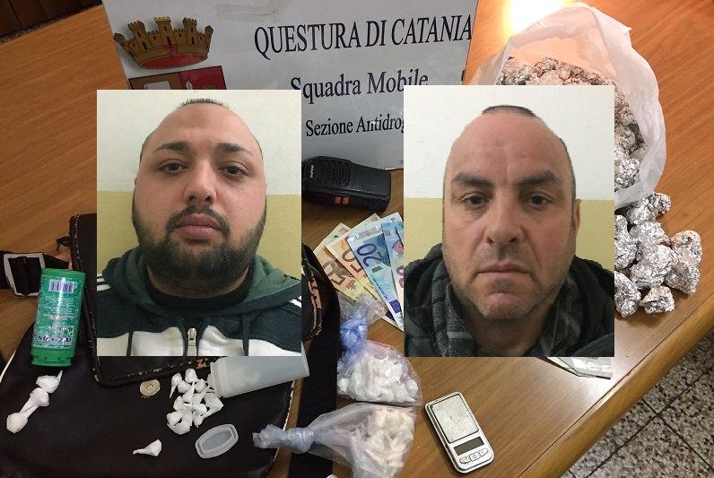 """Beccati """"con le mani nel sacco"""" mentre spacciano droga: 2 arresti e sequestri"""
