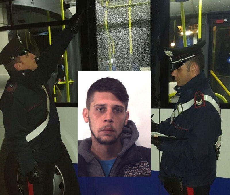 Palermo, insulta autista e rompe vetro di un bus. Arrestato