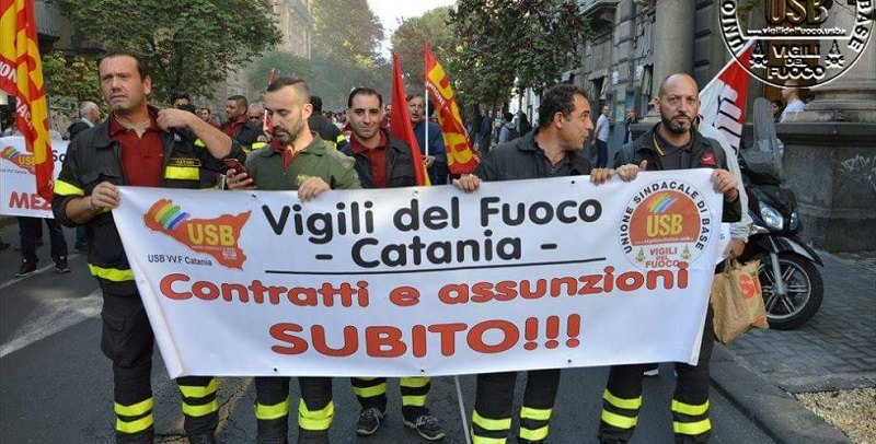 Vigili del Fuoco di Catania disgustati per poca considerazione ricevuta da Bianco