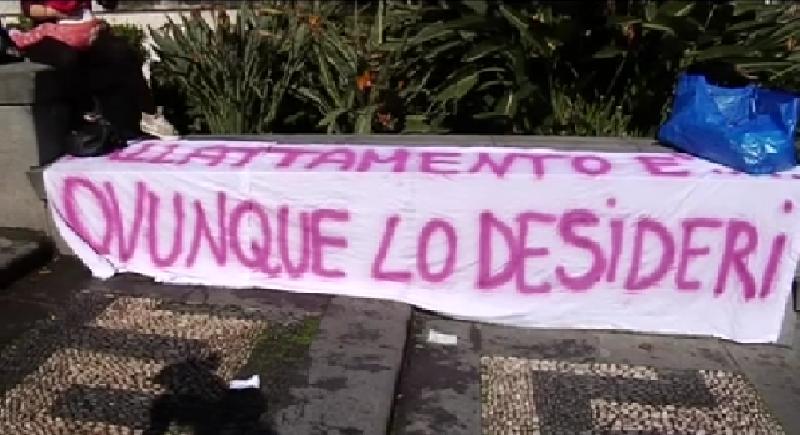 """Catania, Villa Bellini tappa dell' """"allattamento day"""""""