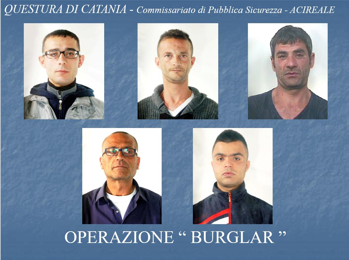 Furti e rapine in appartamenti: 6 arresti nell'Acese. I NOMI e le FOTO