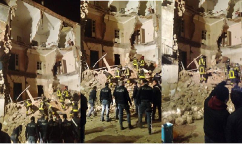 Crolla una palazzina in centro a Catania, si parla già di vittime