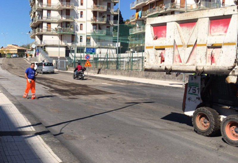 Canalicchio: rifacimento del manto stradale in tre vie