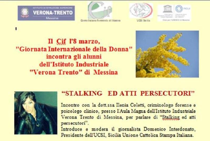 Incontro a Messina con la criminologa Ilenia Coletti