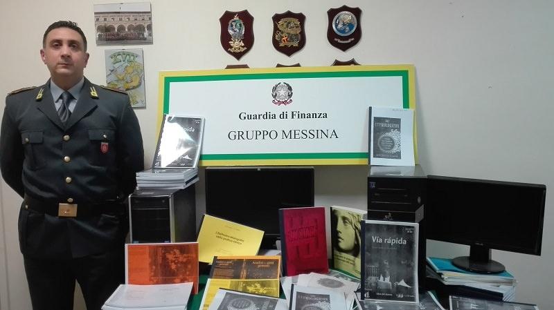 Sequestrati libri universitari illecitamente riprodotti e 150 testi stampati. Denunciate tre persone