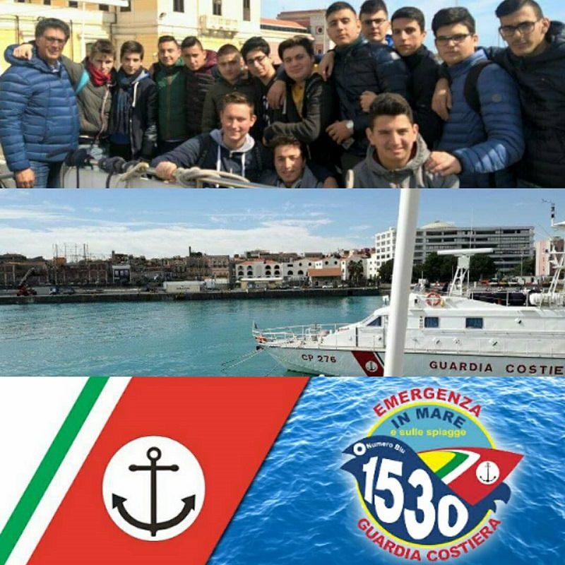 Istituto Majorana-Meucci di Acireale visita Capitaneria di Porto di Catania