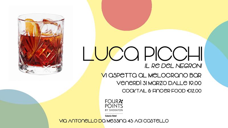 Il re del Negroni torna a Catania: aperitivo con Luca Picchi al bar Melograno dello Sheraton