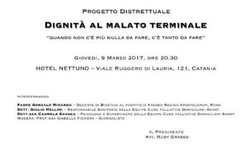"""""""La dignità al malato terminale"""", incontro giovedì sera a Catania"""