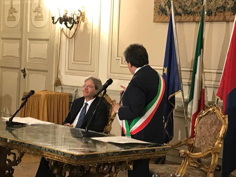 """Gentiloni: """"Impegno sempre crescente per Catania"""". VIDEO"""