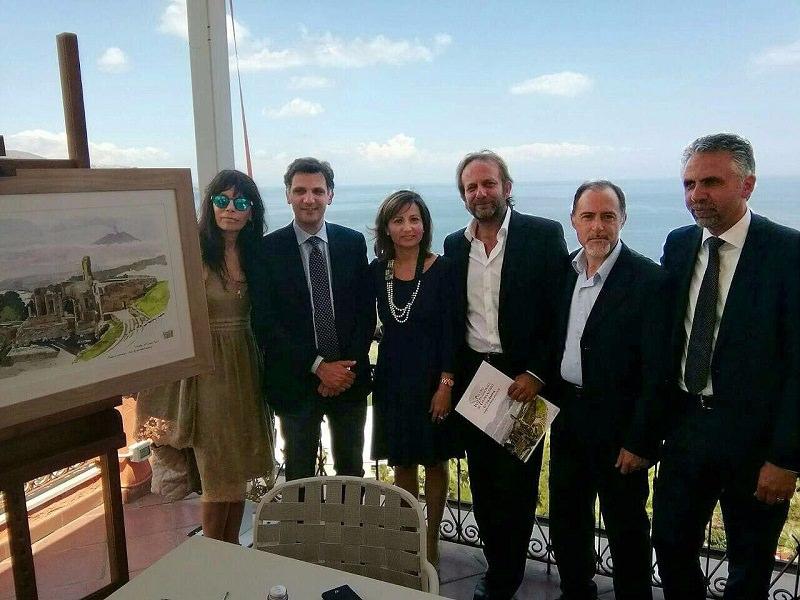 """Taormina, gruppo di giornalisti alla scoperta delle """"Terre del Cinema"""" in occasione del G7"""