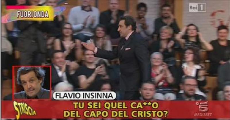 """Le scuse di Flavio Insinna """"smascherato"""" da """"Striscia la notizia"""": i dettagli della vicenda"""