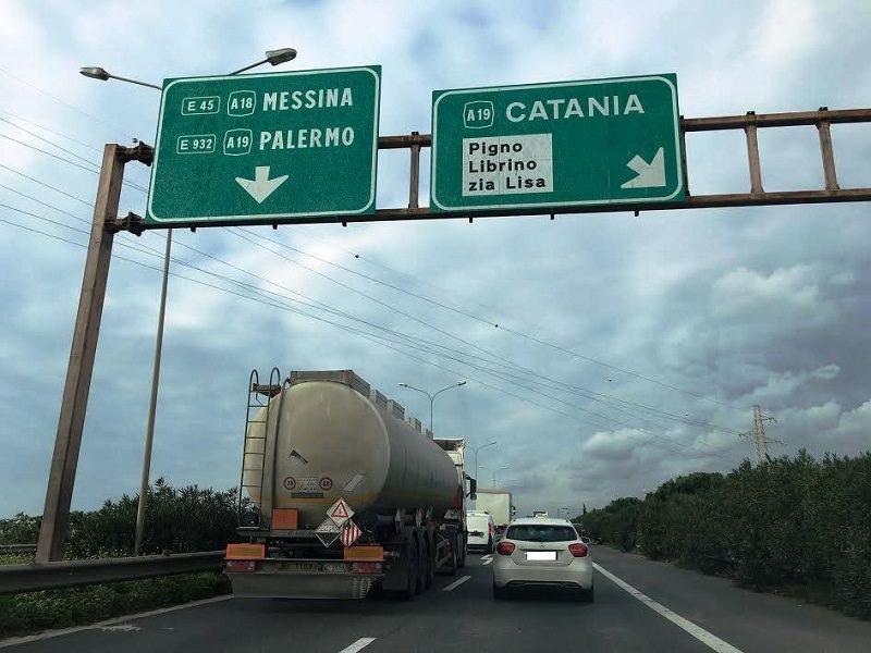 Svincoli Zona Industriale Nord chiusi a causa di lavori sulla Tangenziale di Catania