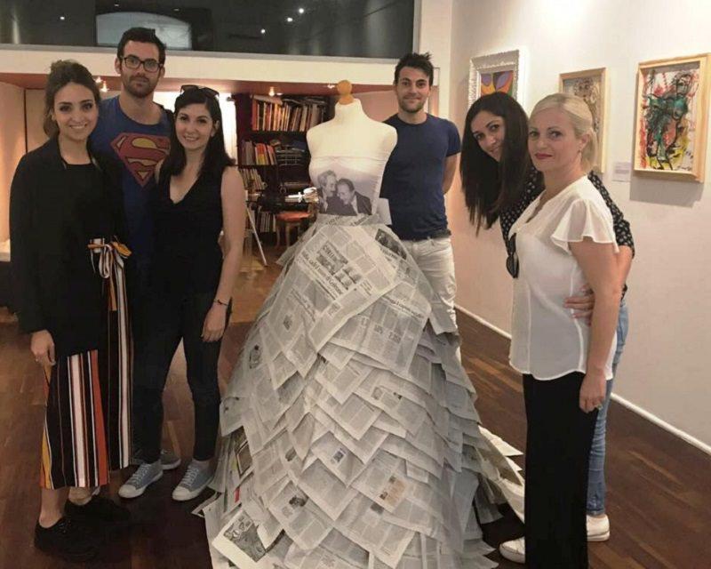 Liliana Nigro e i suoi allievi dedicano un abito alla memoria di Giovanni Falcone