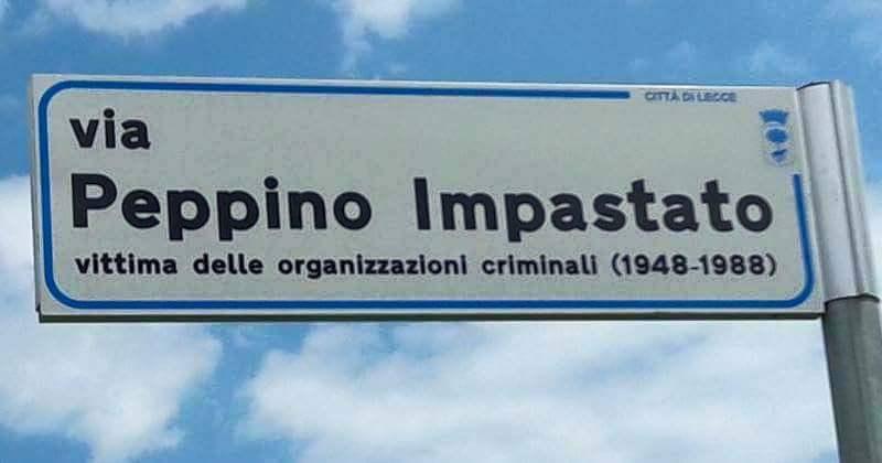 Lecce, targa dedicata a Peppino Impastato: data di morte errata e mafia non nominata