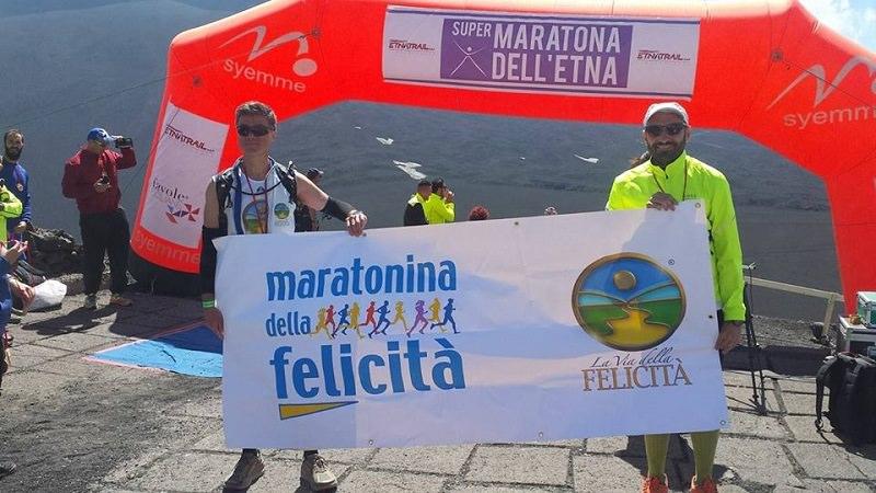 In cima all'Etna per promuovere la Maratonina della Felicità