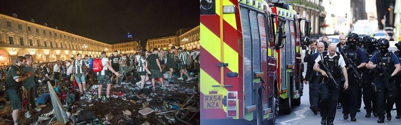 Vittime sgozzate a Londra e tifosi calpestati a Torino: il racconto della notte che ha fatto tremare l'Europa