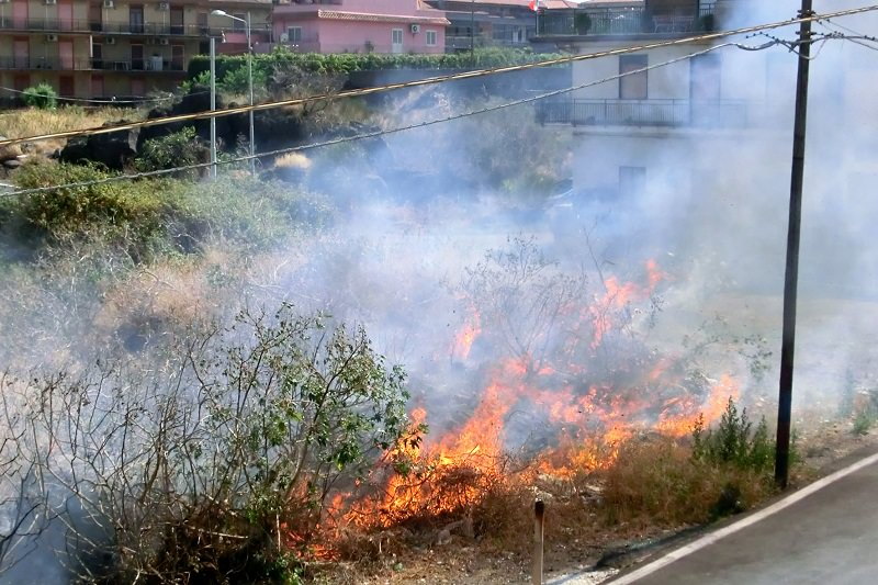 "Vari incendi a Catania e provincia, ""situazione generale critica"""