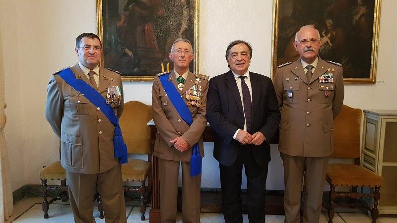 Passaggio di consegne al comando militare siciliano