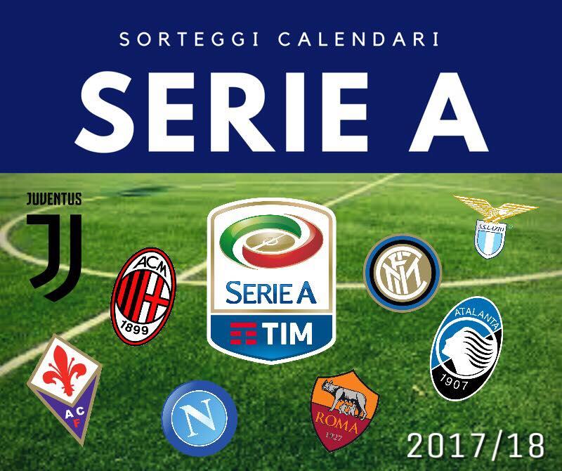 Serie A 2017/2018, ecco la prima giornata: si parte il 19 agosto