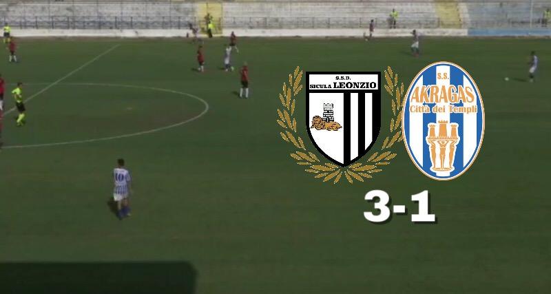 Goal e vittoria per la Sicula Leonzio: l'Akragas cede 3-1