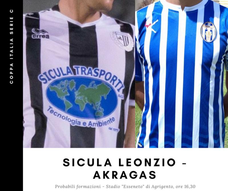 La Coppa Italia Serie C continua: oggi Leonzio-Akragas. PROBABILI FORMAZIONI
