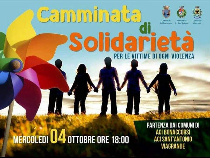 Camminata di solidarietà per le vittime della violenza, Aci Bonaccorsi lancia un grido di pace